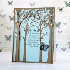 Inspiration for using Memory Box papers, stamps, dies, and stencils in your papercrafting and cardmaking projects! Memory Box Cards, Memory Box Dies, Scrapbook Expo, Scrapbooking, Scrapbook Layouts, Spring Forest, Copic Sketch Markers, Butterfly Cards, Flower Cards