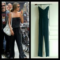 "*NEW* Dark Blue Jumpsuit Size S Never worn with tags strapless jumpsuit in excellent condition with ruched sides, belt loops, and two slouchy front pockets is perfect for summer! Comfortable and stretchy 97% Rayon 3% Spandex. 51"" Long 29.5"" inseam. Steal Alessandra's style! Wet Seal Dresses Strapless"