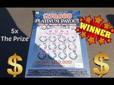 I WON! 5x on PLATINUM PAYOUT NC LOTTERY.