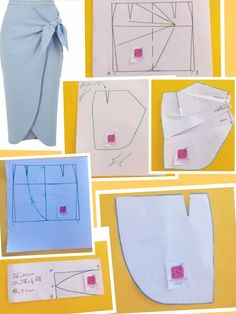 Skirt Patterns Sewing, Blouse Patterns, Clothing Patterns, Sewing Pants, Sewing Clothes, Diy Clothes, Fashion Sewing, Sewing Techniques, Dressmaking