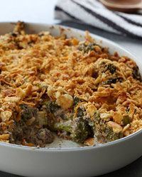 Broccoli and Wild Mushroom Casserole Recipe - Robert Rausch | Food & Wine.   A different take on a traditional casserole!   No creamed soup in this one