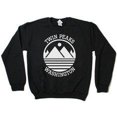 Twin Peaks Washington Sweatshirt Jumper by BurgerAndFriends, $24.00