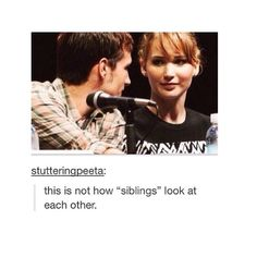 Yeah siblings look at each other like  At least in my case