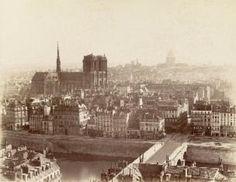 Un panorama de Paris capturé depuis la tour Saint-Jacques, vers Vintage Paris, Old Paris, Paris Art, Vintage Black, Paris France, France City, Nicolas Flamel, Old Pictures, Old Photos