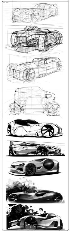 Random Vehicle Sketches