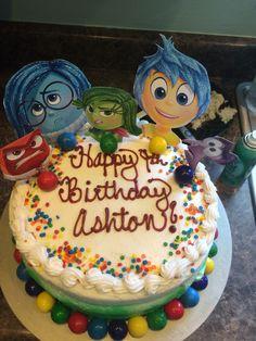Pixar inside out birthday cake- use gum balls for memory balls!!