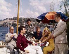 Still of Maximilian Schell, Peter Ustinov, Melina Mercouri and Robert Morley in Topkapi (1964)