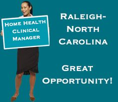 Home Health Clinical Manager | Raleigh, NC Call/Text/Email for additional information: Jessica Brasington: (704) 222.4158 | Jessica@staffdirecthealth.com Lisa Steinberger: (704) 281-3165 | Lisa@staffdirecthealth.com https://www.facebook.com/staffdirecthealth/  staffdirecthealth.com