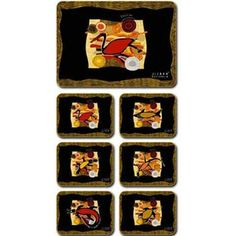 Aboriginal Design Totem Country placemats and coasters, set of 6