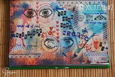 "art journal page by Goga for ""eye"" challenge <3 http://3rdeyecraft.com/ <3 #stamping #stamp #craft"