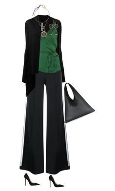 """""""Fall Looks   Meadow Green"""" by simply-one ❤ liked on Polyvore featuring Rick Owens, ADAM, Ralph Lauren, MM6 Maison Margiela, Marni and Jimmy Choo"""
