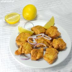 Smażona ryba z Amritsaru (Amritsari Fish) Calamari, Foods To Eat, Chorizo, Tandoori Chicken, Cauliflower, Curry, Frozen, Food And Drink, Fish
