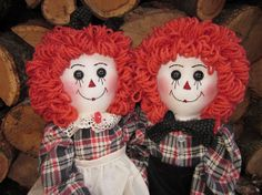Raggedy Ann and Andy dolls by granniesraggedybags on Etsy, $52.00