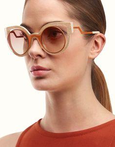 FENDI   PARADEYES lunettes de soleil roses à paillettes