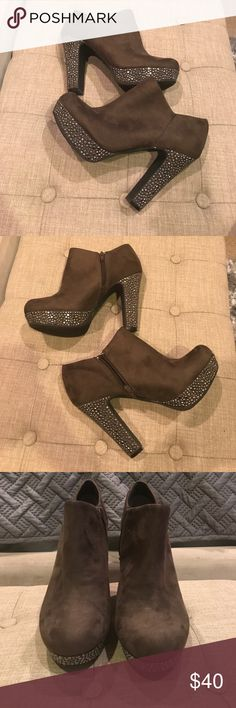 Gianni Bono  Ankle Boots Gently used Gianni Bini faux suede Studded Ankle Boots Size 9 Gianni Bini Shoes Ankle Boots & Booties