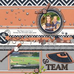 """Go Team  Credits:  """"Play Ball"""" (Quick Page A3) by Dees-Deelights Font Used:  DJB Play Misty for Me and Century  Available at:   My Memories Store  - Exclusive Quick PageA3 : –  https://www.mymemories.com/store/display_product_page?id=DDDR-QP-1503-83064  Coordinating Products Available at: My Memories Store: Main Kit - https://www.mymemories.com/store/display_product_page?id=DDDR-CP-1502-81466"""