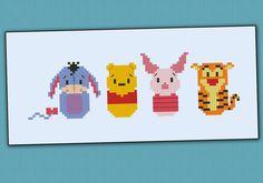 Parodie de Winnie l'ourson - Cross stitch PDF patterb