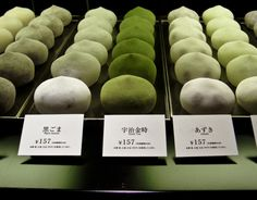Mochi ice cream is a Japanese confection made from mochi (pounded sticky rice) with an ice cream filling. They come in all sorts of flavors including tea-inspired flavors like matcha and sakura. Cafe Central, Comida Picnic, Mint Green Aesthetic, Mochi Ice Cream, Japanese Sweets, Japanese Food, Matcha Green Tea, Green Teas, Aesthetic Food