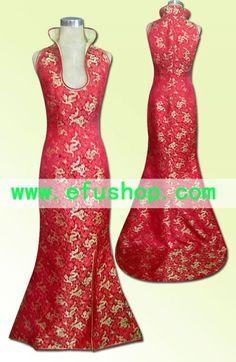 Chinese Wedding Dresses WDH29 - Custom-made Cheongsam,Chinese clothes, Qipao, Chinese Dresses, chinese clothing,EFU Tailor Shop