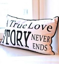 Tyyny 30 x 50cm, True Love, valkoinen