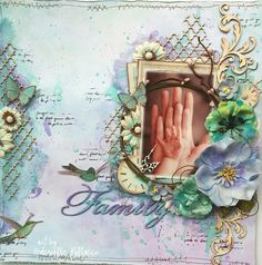 Such a Pretty Mess: Family {A NEW Scrapbook Diaries Kit Page & Video Tutorial}