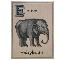 Floating Circus // Elephant French Flash Card Art