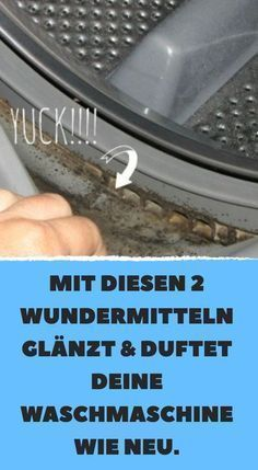 With these 2 miracle products your washing machine shines and smells like new. - With these 2 miracle products your washing machine shines and smells like new. With these 2 miracle - Diy Home Cleaning, Deep Cleaning Tips, House Cleaning Tips, Cleaning Hacks, Bathroom Hacks, Bathroom Cleaning, Glass Cooktop, Clean Freak, Housekeeping