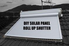 Picture of DIY solar panel roll up shutter (solar curtain, tapparella solare) Solar Energy For Home, Bronn, Best Solar Panels, Solar Panel Installation, Diy Chicken Coop, Diy Solar, Water Systems, Alternative Energy, Shutters