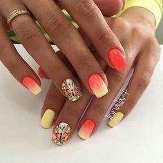 Mandarino giallo bianco farfalle