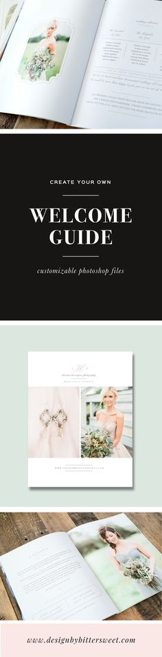 Show off your best work, introduce your studio, and give them a session and product pricing guide you can feel proud of. This new client studio welcome packet has all of the information your clients will need to book your studio and prepare them for their big day.