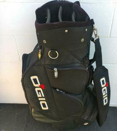 OGIO BOSS HOGG GOLF CART BAG WOODE CLUB MGMT BLACK ~TOYOTA FINANCIAL LOGO #OGIO #Modern