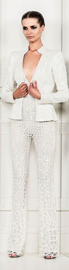 Zuhair Murad Spring 2014 Ready-to-Wear✿Laya Couture Fashion, Runway Fashion, High Fashion, Womens Fashion, All White Outfit, Elegant Chic, Zuhair Murad, Barbie Dress, Business Fashion