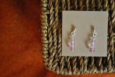 Handmade earrings light rose faceted crystal by ATouchOfJewels, $16.00