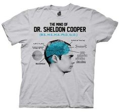 The Mind of Dr. Sheldon Cooper Ice Grey Mens T-shirt