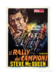 ON ANY SUNDAY, (aka IL RALLY DEI CAMPIONI), Steve McQueen, 1971