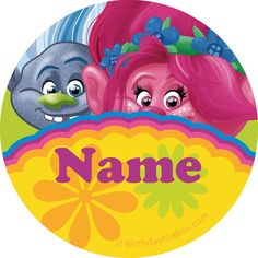 Trolls Party Personalized Mini Stickers (Sheet of 20)