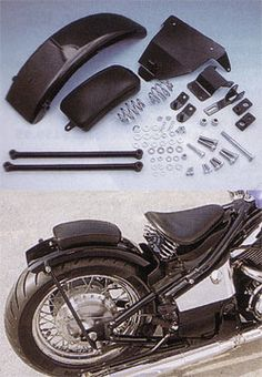 West-Eagle Flat Rear Fender & Solo Seat Spring Mounting Kit - Honda Shadow 600 VLX