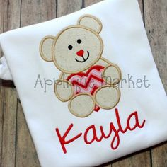 Bring in the holiday with Applique Market's great selection of special designs. Celebrate your special occasions, such as Valentine's Day, with these adorable bear heart Applique designs.