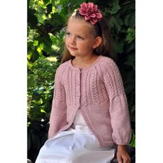 a5a236d7443a Girls Knitting pattern Girls Cardigan Childs Cardigan Easy Knit V ...