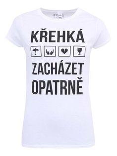 ZOOT Originál - Bílé dámské tričko Křehká - 1 967f68109e