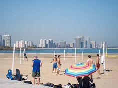 Montrose Beach in Chicago