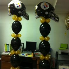 Pin by dawn powell on steeler balloons decorating pinterest steelers party steelers balloon pittsburgh steelers steelers birthday decorations balloon towers filmwisefo Gallery