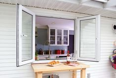 A Beautiful Kitchen Pass-Through Window with Flawless ...