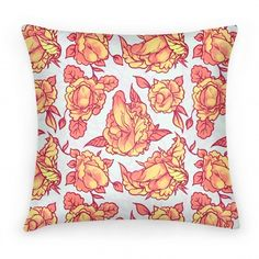 Floral Penis Pattern Orange; how long do you think it would take someone to notice? I want this pillow for my couch SO MUCH.