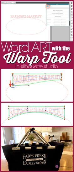 Silhouette Studio Warp Tool for Word Art - Silhouette Studio designer edition tutorials, Silhouette Studio Software tutorials, Silhouette Desi - Silhouette Curio, Portrait Silhouette, Silhouette Cutter, Silhouette Cameo Machine, Silhouette Vinyl, Silhouette America, Silhouette Files, Silhouette Cameo Tutorials, Silhouette Projects
