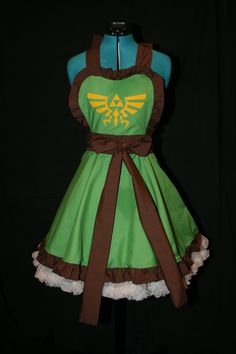 Legend of Zelda Link Inspired Apron Pinafore Cosplay. $65.00, via Etsy.