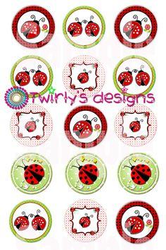 Ladybugs Bottle Cap Images Emailed