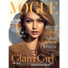 Gigi Hadid Lands The Cover Of Vogue Brazil ❤ liked on Polyvore featuring backgrounds, models and pictures