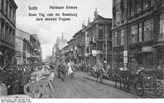 Truppe tedesche per le strade di Lodz (1914)