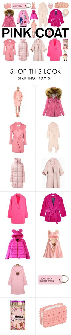 """""""Pinkology"""" by didesi ❤ liked on Polyvore featuring Anouki, MaxMara, Oscar de la Renta, Lands' End, Max&Co., McQ by Alexander McQueen, WithChic and Various Projects"""